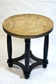 round brass top coffee table egyptian pyramid