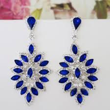 blue sapphire chandelier earrings large bridal sapphire earring
