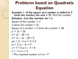 quadratic equations ppt