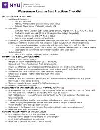 Microsoft Word Resume Guide Checklist 1 Docx Nyu Wasserman