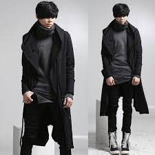 whole new fashion long trench coat men hip hop black long coat hoo jacket mens casual wool overcoat hooded manteau homme cappotto by