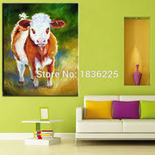painting supplies paintings of pieces fabric interior decoration animal abstract paintings cow modern art paintings canvas