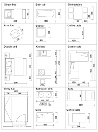 dimensions of furniture we use in our desings
