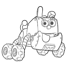 Robot Dog in Rusty Rivets Coloring Page Robotic Puppy - Get ...