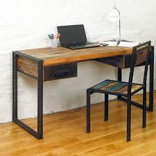 baudouin shabby chic vintage reclaimed lumber computer desk dressing table by bonsoni