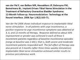 overactive bladder valencia technologies percutaneous tibial nerve stimulation works