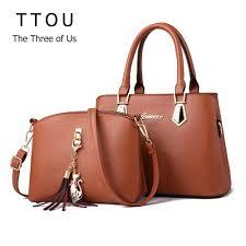 <b>TTOU</b> 2 PCS Set Composite <b>Handbag</b> Women <b>Bag Vintage</b> Casual ...