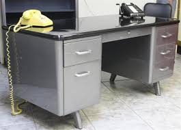 Allsteel Equipment Arch Leg Tanker Desk