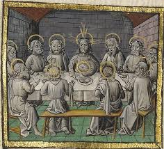 the last supper about 1475 unknown tempera colors gold leaf and