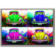 Paintings For The Living Room Handmade Oil Painting Color Car Paintings Modern Abstract Picture
