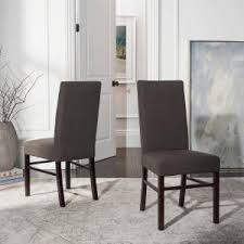 charcoal brown dining chair set of 2