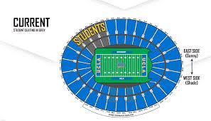 Rose Bowl Seating Chart Ucla Football Rose Bowl Student Seating Survey