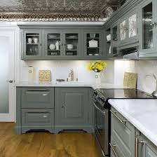 kitchens with painted cabinetsGray Kitchen with Oak Cabinets