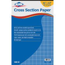 Cross Section Paper 10 X 10 Grid 50 Sheet Pad 11 X 17 Walmart Com
