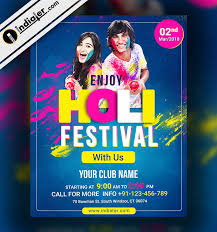 Event Flyers Free Free Happy Holi Celebration Event Flyer Template Psd Indiater