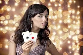 Young girl in casino on background bokeh Stock Photo by ©sekundator 35136629