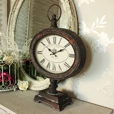 vintage style clock. Simple Style Antique Vintage Style Metal Fob Watch Mantel Clock On Stand  In C