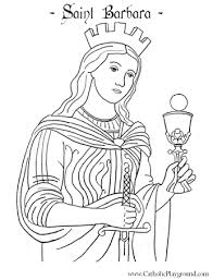 Small Picture Saint Barbara coloring page December 4th Catholic Playground