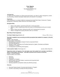 Full Time Real Estate Agent Resume Sample With Objective And Within