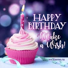 Make A Wish Download Our New Fancy Birthday Cupcake With Candle Gif