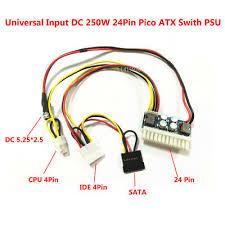 <b>DC 12V</b> 250W 24Pin ATX Switch Pico PSU Car Auto Mini ITX Power ...