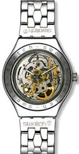 17 best images about swatch skeleton watches swatch men s automatic see through dial crystal watch irony automatic body soul collection swiss eta automatic movement 30 meters 100 feet 3 atm