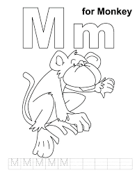 letter n coloring sheets m pages for kids free printable