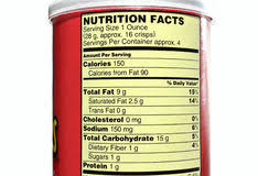 potato chips nutrition facts stock images