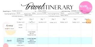Trip Planner Excel Top Result Trip Planning Itinerary Template Best Of Travel Vacation
