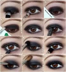 all black smokey eyes