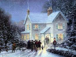 For Christmas Ill Be Home For Christmas 13 Thomas Kincade Wallpaper Image