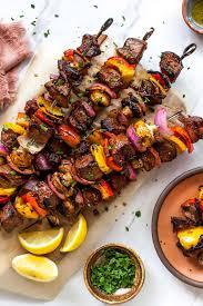 steak kabobs with steak marinade