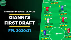 Giannis first FPL draft | fantasy Premier league tips 2020/21 - YouTube