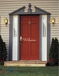 open front door welcome. Front Door Welcome Decal Open N