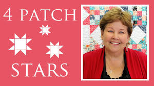 The Four Patch Stars Quilt: Easy Quilting Tutorial with Jenny Doan ... & The Four Patch Stars Quilt: Easy Quilting Tutorial with Jenny Doan of  MIssouri Star Quilt Co - YouTube Adamdwight.com