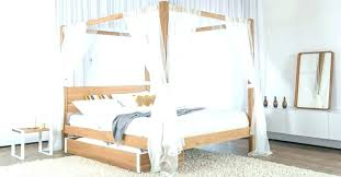 Canopy Bed Curtains Canopy Bed Curtains Wooden Canopy Bed With White ...