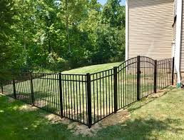 backyard fence black aluminum 4 tall