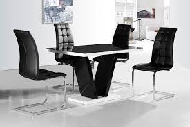 ga vico blg white black gloss gloss designer 120 cm dining set 4 black white chairs