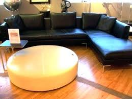 round black leather ottoman round leather coffee table round leather coffee table ottoman round black leather