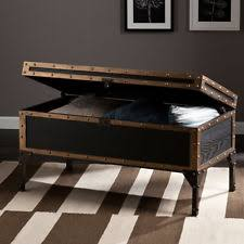 Large Trunk Coffee Table Retro Old Style Antique Storage Space Open Living  Room
