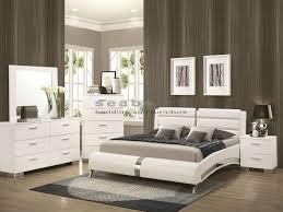 Queen Bedroom Furniture Fresh Q Felicity White Chrome 6pc Queen Bedroom Set  .