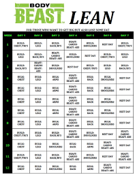 Beast Body Workout Sheets Yahoo Image Search Results My