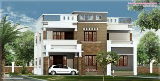 Plans Modern Contemporary Roof_ House Plans Flat Roof Terrace House