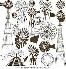 farm windmill drawing. Windmill Collection - A Clip Art Of Various. Farm Drawing