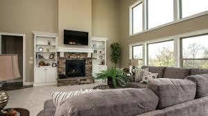 fireplace with built ins on each side stone in bookcases brick white one