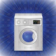 washing machine clipart. home appliance - domestic washing machine on blue background with rays vector clipart clipart l