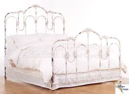 white wrought iron bed. Fine Wrought Vintage Antiques Metal Beds Frames    American Iron Bed Company  Authentic Antique Cast And White Wrought