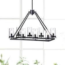 exotic 8 light chandelier antique black 8 light linear clear glass cylinder chandelier 8 light crystal
