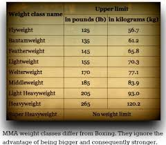 13 Judicious Boxing Weight Classes Chart In Pounds