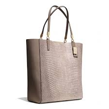 ... Coach Madison Northsouth Bonded Tote in Lizard Embossed Leat ...